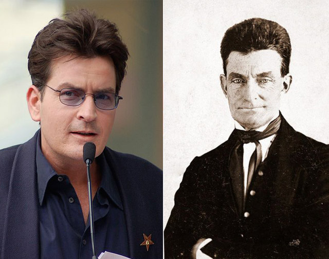 Charlie Sheen Looks Like John Brown