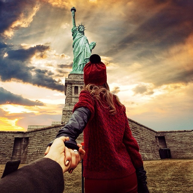 Travel to the Statue of Liberty in New York
