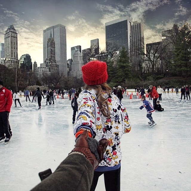 Travel to Central Park ice rink