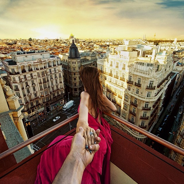 Travel to the roof of Praktik Hotel in Madrid
