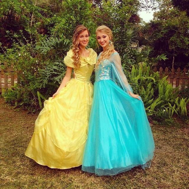 Princess Belle and Queen Elsa