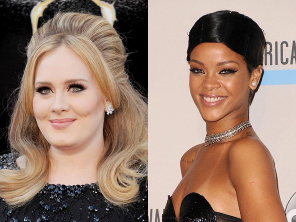Adele and Rihanna