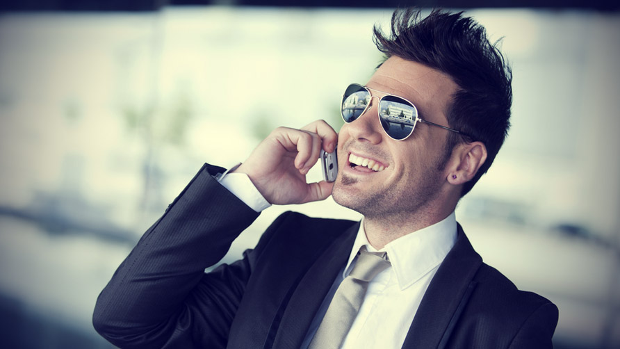 Businessman Talking On A Phone