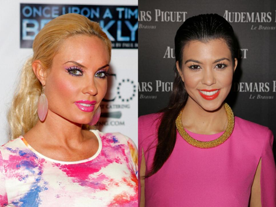 Coco Austin and Kourtney Kardashian