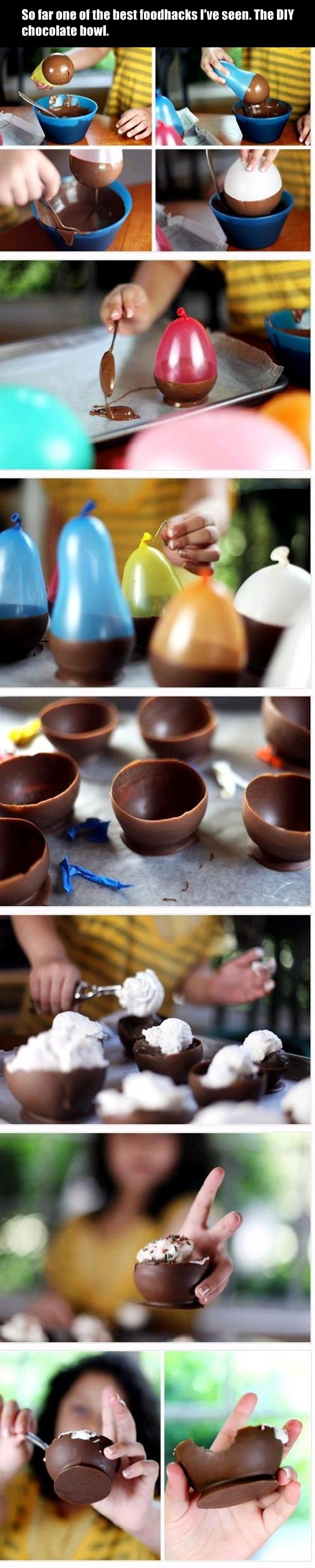 DIY Chocolate Bowls