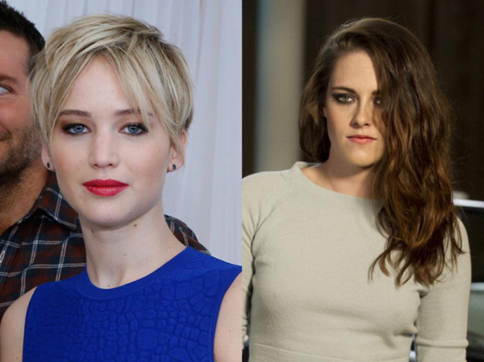 Jennifer Lawrence and Kristen Stewart