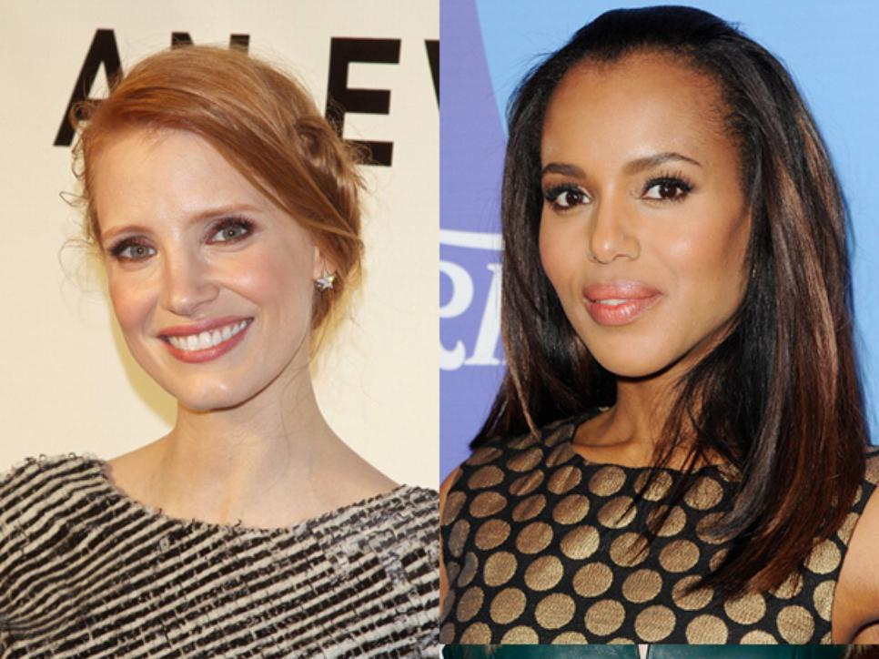 Jessica Chastain and Kerry Washington