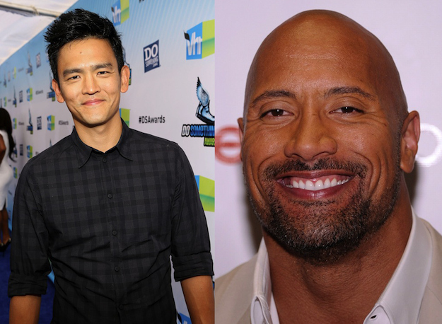 "John Cho and Dwayne ""The Rock"" Johnson"