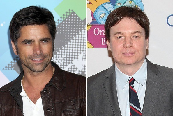 John Stamos and Mike Myers