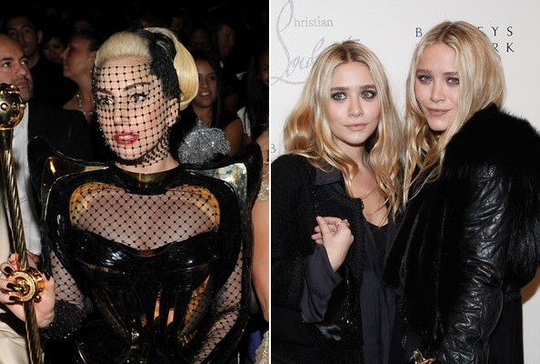 Lady Gaga and the Olsen Twins