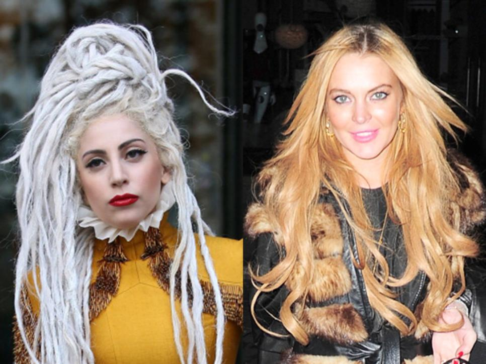 Linday Lohan and Lady Gaga