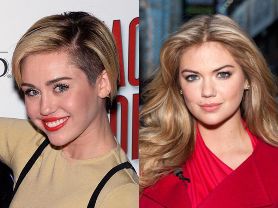 Miley Cyrus and Kate Upton