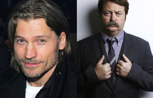 Nikolaj Coster-Waldau and Nick Offerman