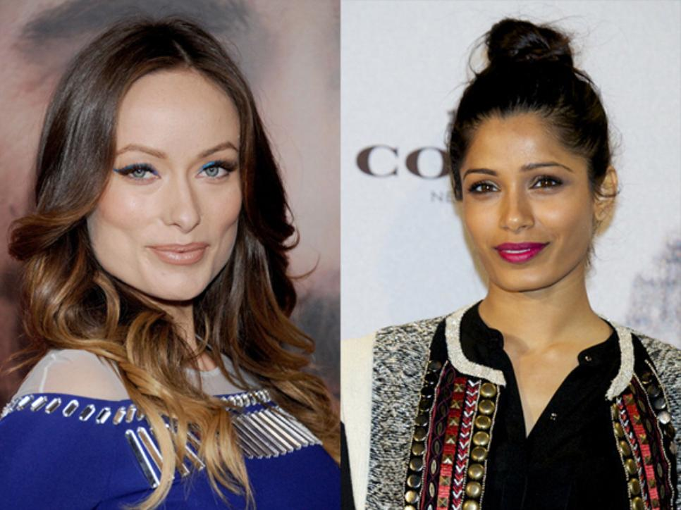 Olivia Wilde and Frieda Pinto