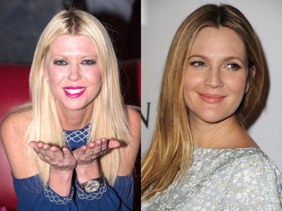 Tara Reid and Drew Barrymore