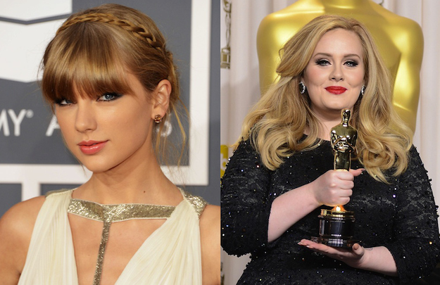 Taylor Swift is a year younger than Adele