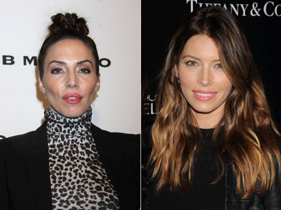 Whitney Cummings and Jessica Biel