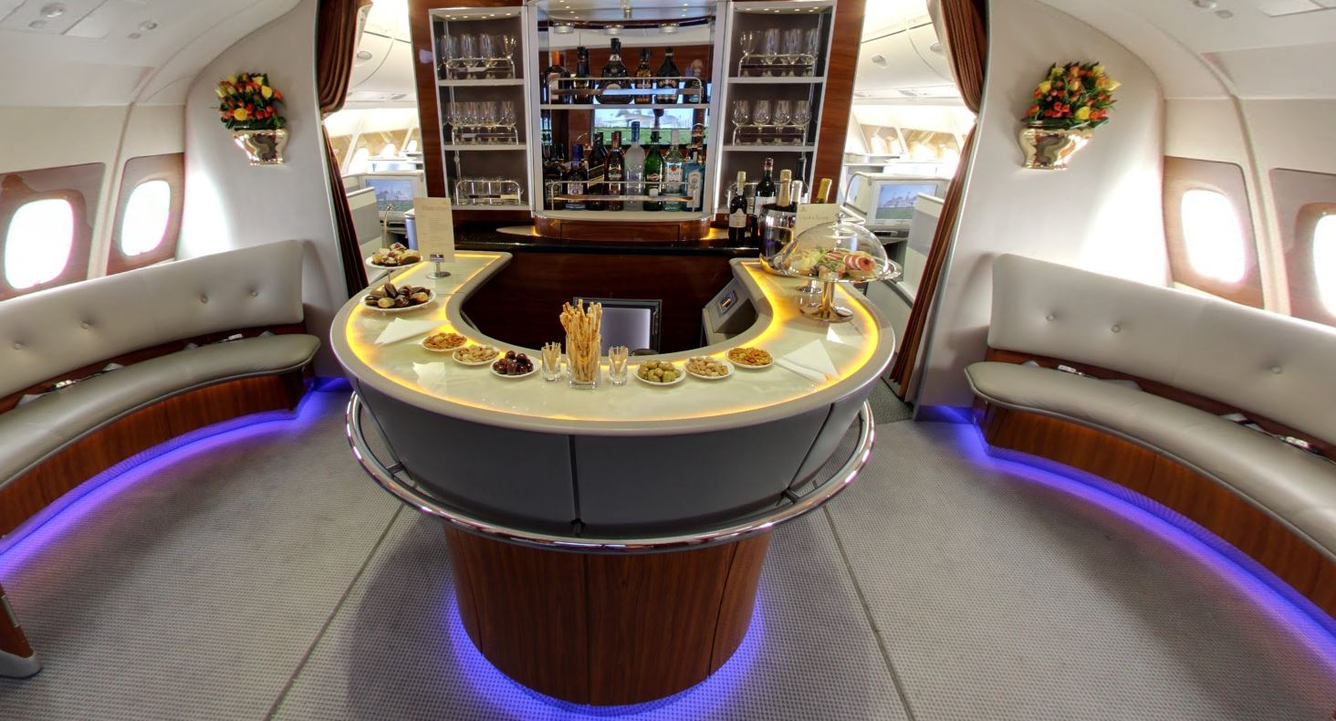 Emirates A380 Google Street View