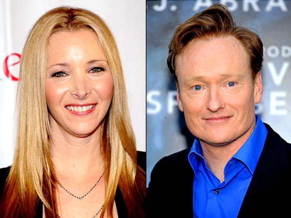 Lisa Kudrow and Conan O'Brien