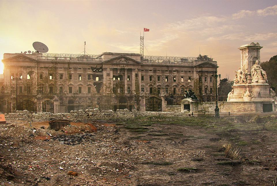 Post-Apocalyptic Buckingham Palace, London, United Kingdom