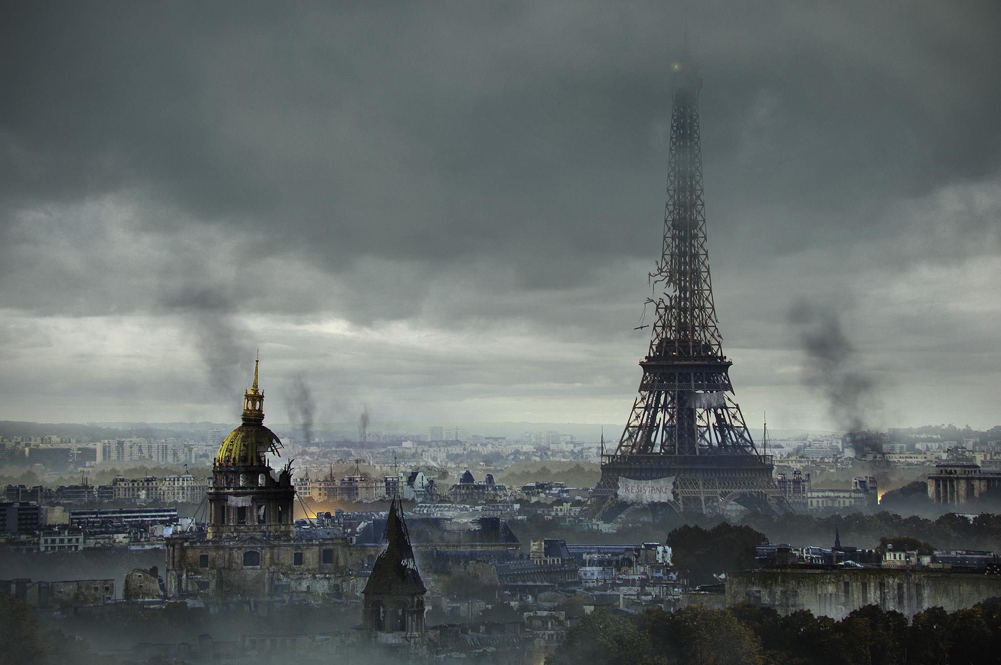 Post-Apocalyptic Eiffel Tower, France