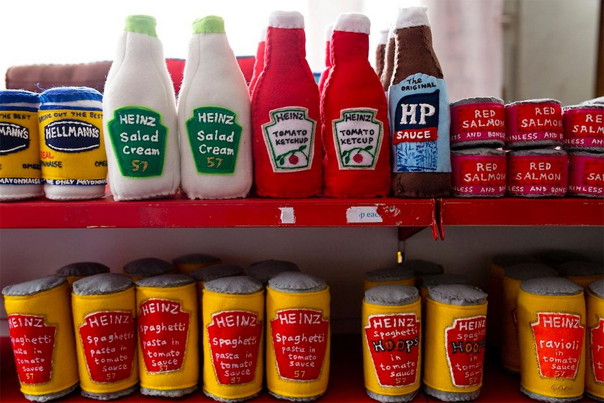 Sauce Bottles Made Of Felt