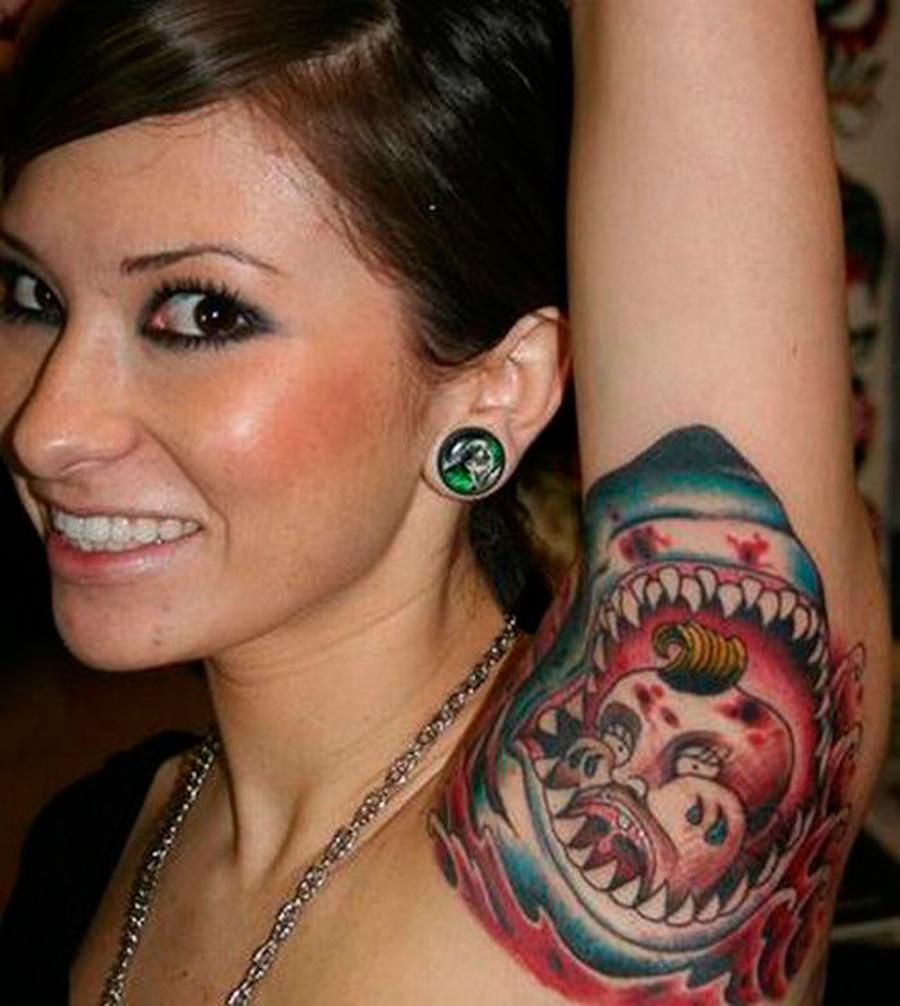 Shark Armpit Tattoo