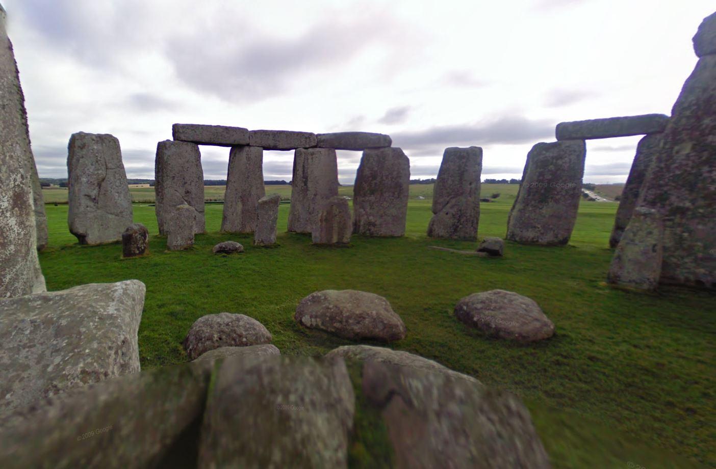 Stonehenge Google Street View