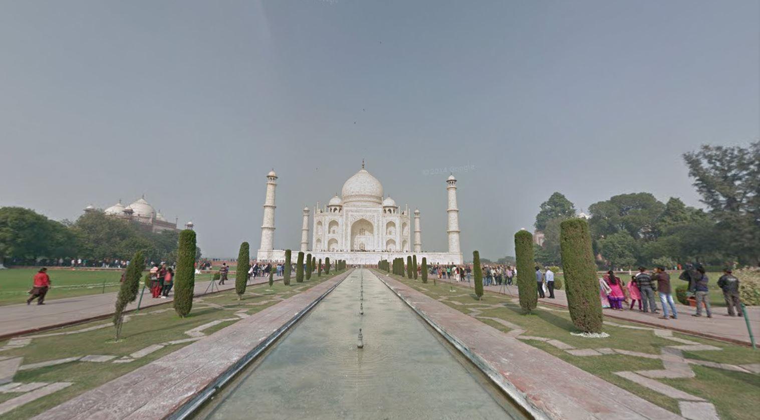 Taj Mahal Google Street View