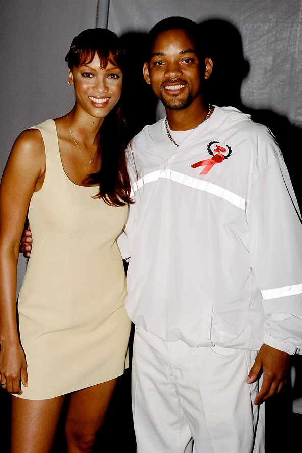 Tyra Banks and Will Smith