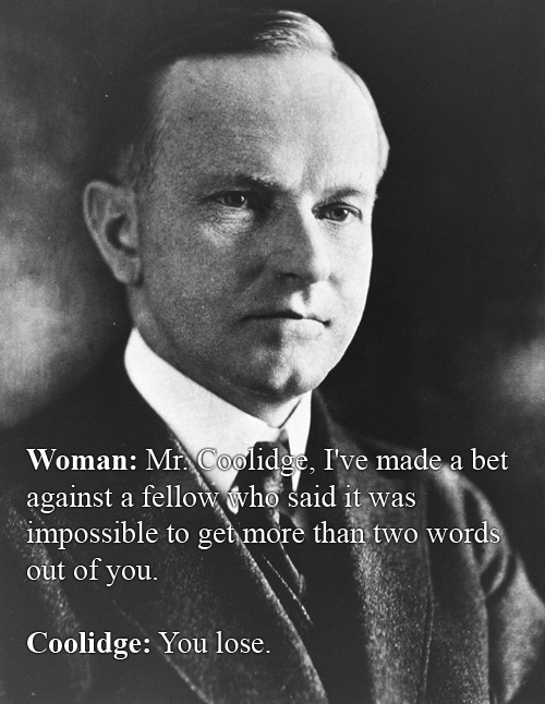 Calvin Coolidge vs Some Random Lady At A White House Dinner