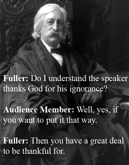 Chief Justice Melville W. Fuller vs An Attendee At A Church Conference