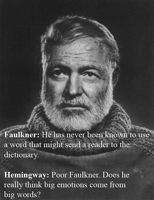 Earnest Hemingway vs William Faulkner