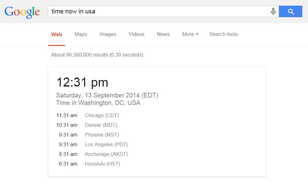 Google World Time