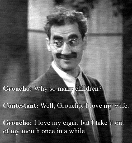 "Groucho Marx vs A Contestant on ""You Bet Your Life"""