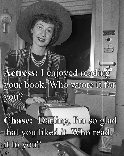 Ilka Chase vs An Anonymous Actress