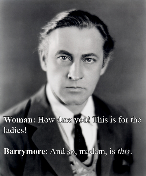 John Barrymore vs A Woman In The Lady's Room
