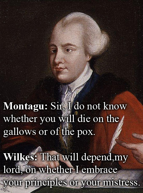 John Wilkes vs John Montagu