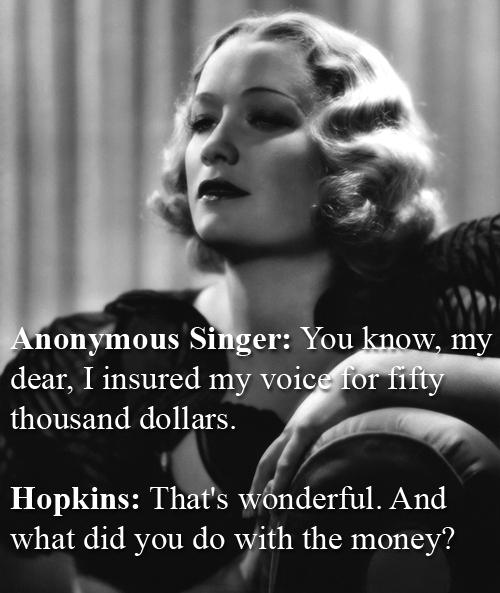 Miriam Hopkins vs An Anonymous Singer