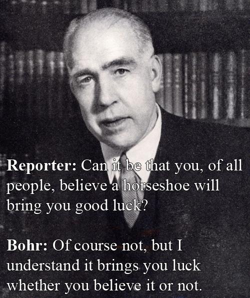 Niels Bohr vs A Reporter