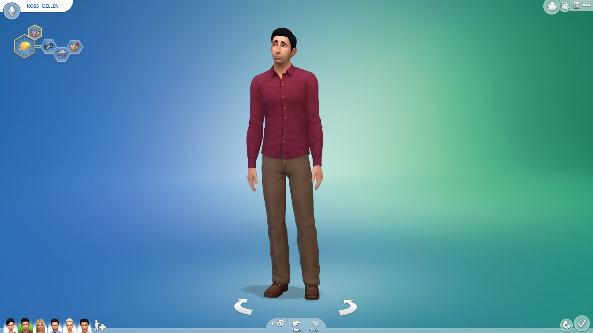 Ross Gellar In Sims