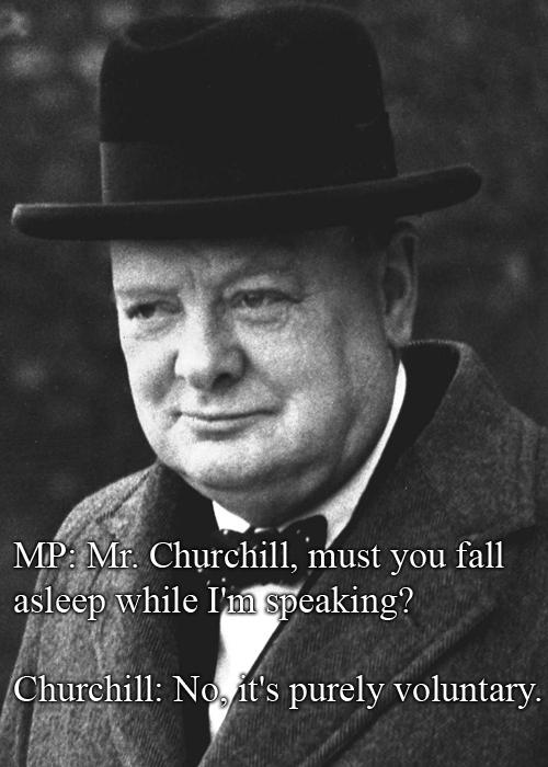 Winston Churchill vs A Member Of Parliament