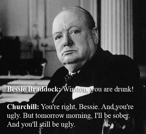 Winston Churchill vs Bessie Braddock