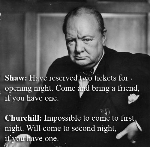 Winston Churchill vs George Bernard Shaw