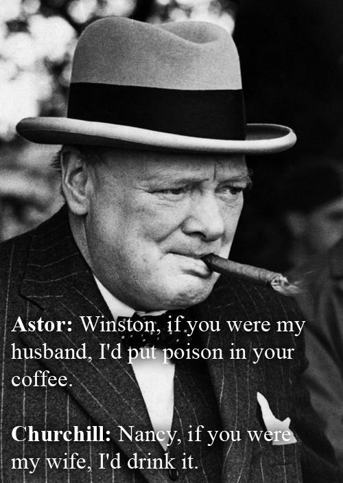 Winston Churchill vs Lady Astor