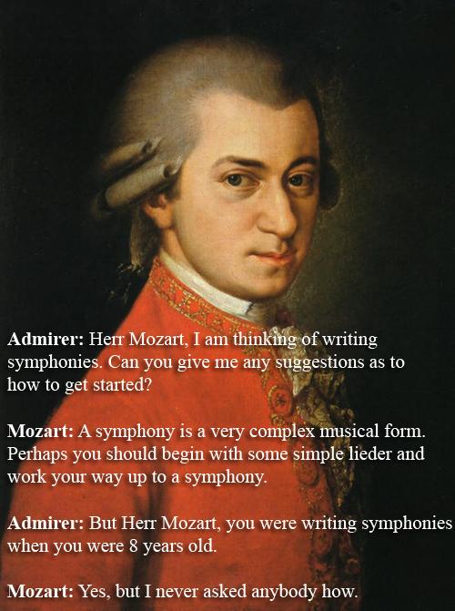 Wolfgang Amadeus Mozart vs An Admirer