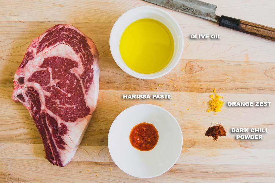 African Steak Ingredients