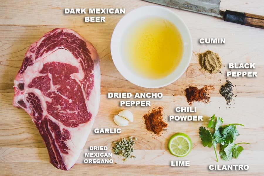 Carne Asada Steak Ingredients
