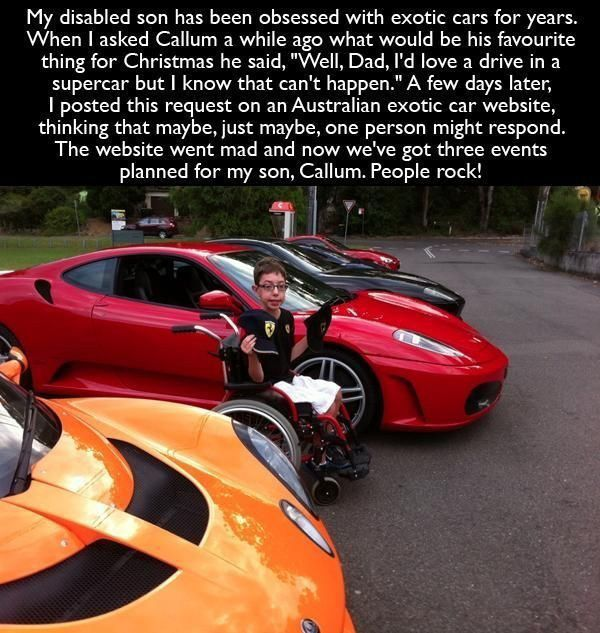 Disabled Son With Supercars