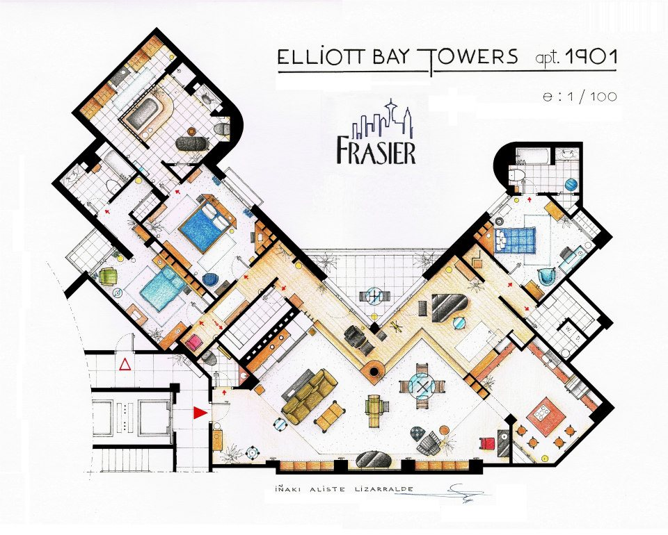 Frasier Apartment Floor Plan